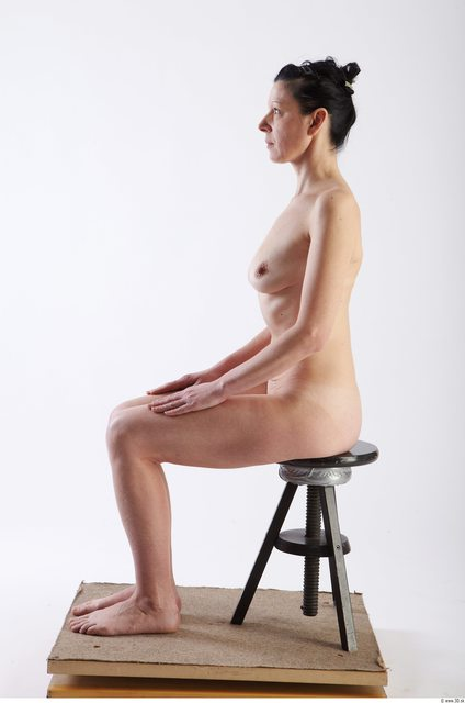 Whole Body Woman Artistic poses White Nude Slim
