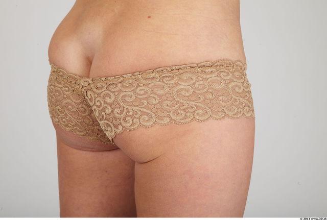 Whole Body Bottom Woman Animation references Casual Underwear Average Panties Studio photo references
