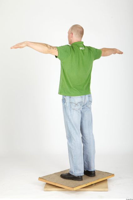 Whole Body Man Animation references T poses Casual Athletic Studio photo references