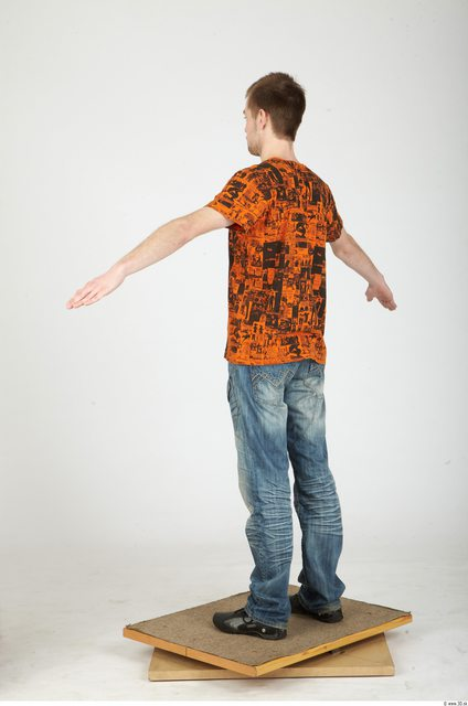 Whole Body Man Animation references Casual Slim Studio photo references