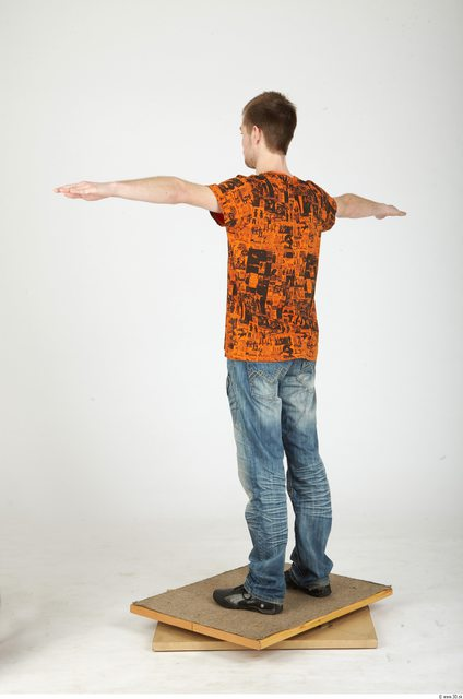 Whole Body Man T poses Casual Slim Studio photo references