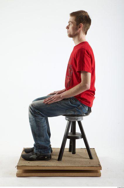 Whole Body Man Artistic poses Casual Slim Studio photo references