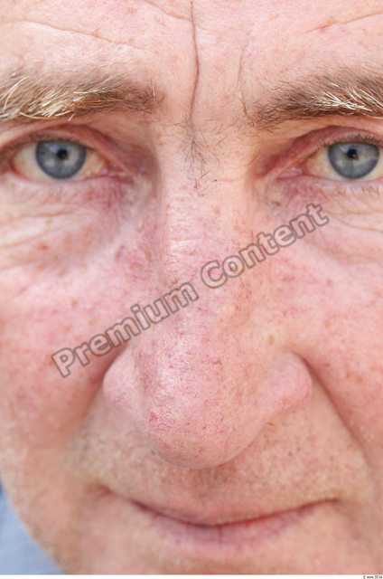 Nose Man White Chubby Wrinkles