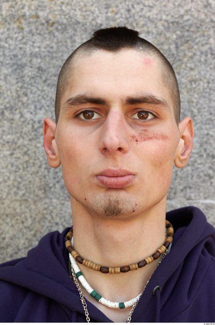 Head Man White Scar Slim