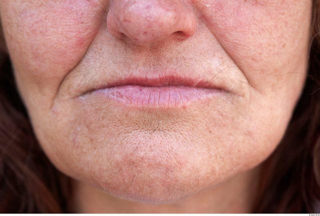 Whole Body Woman White Slim Wrinkles