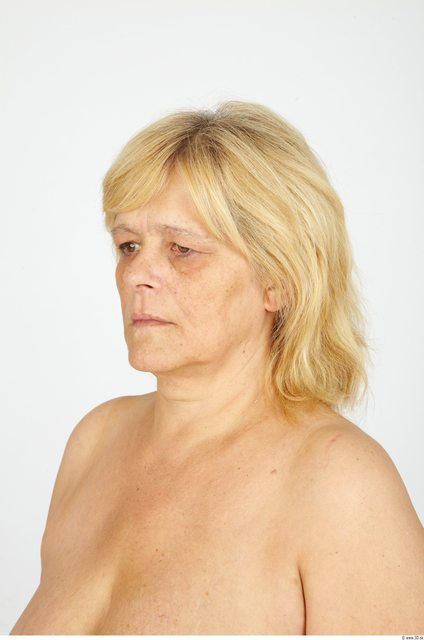 Whole Body Hair Woman Casual Overweight Studio photo references