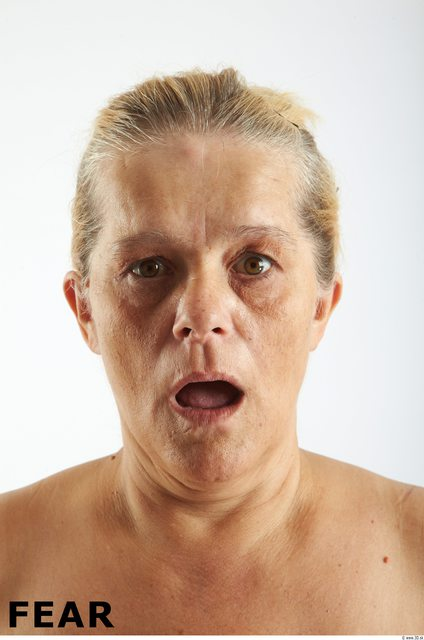 Face Emotions Woman White Overweight Wrinkles