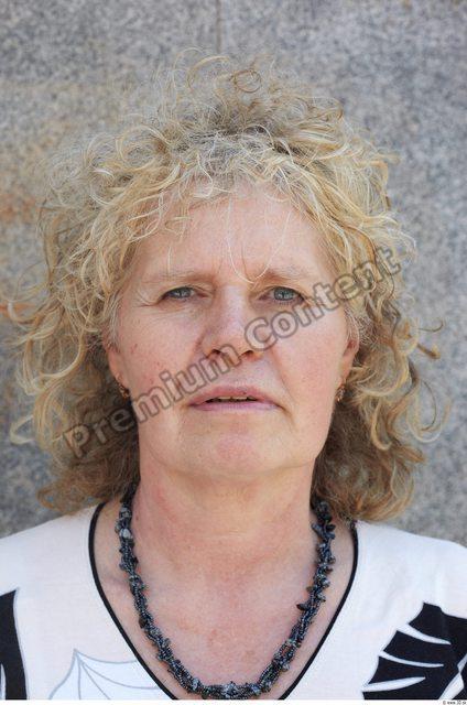 Head Woman White Chubby Wrinkles