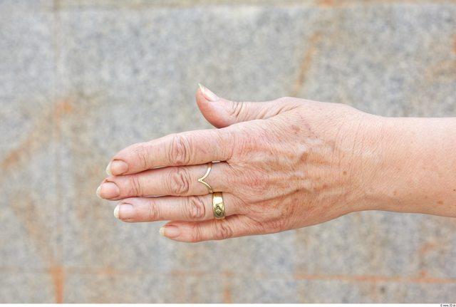 Hand Woman White Jewel Chubby Wrinkles
