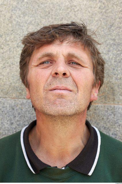 Head Man White Average Wrinkles