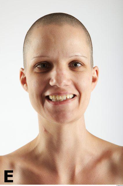 Face Phonemes Woman White Slim Bald
