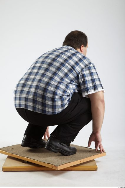 Whole Body Man Other White Casual Overweight