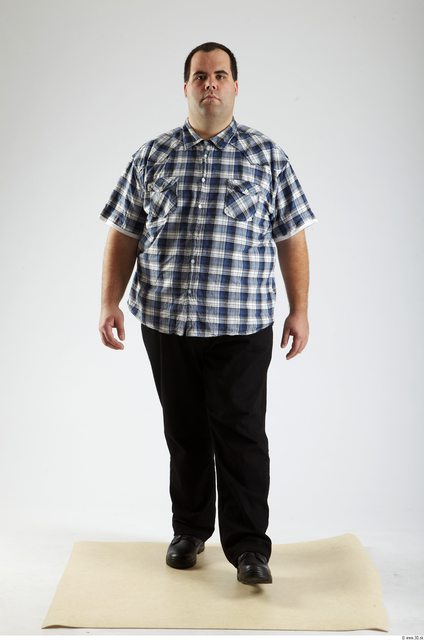 Whole Body Man Animation references White Casual Overweight