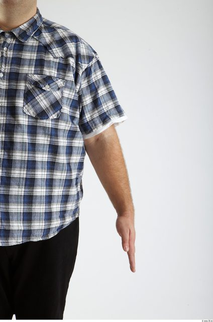 Arm Man Animation references White Casual Shirt Overweight