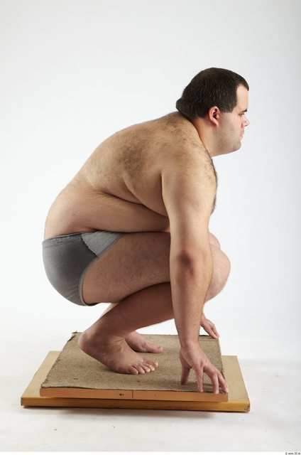 Whole Body Man Other White Hairy Underwear Pants Overweight