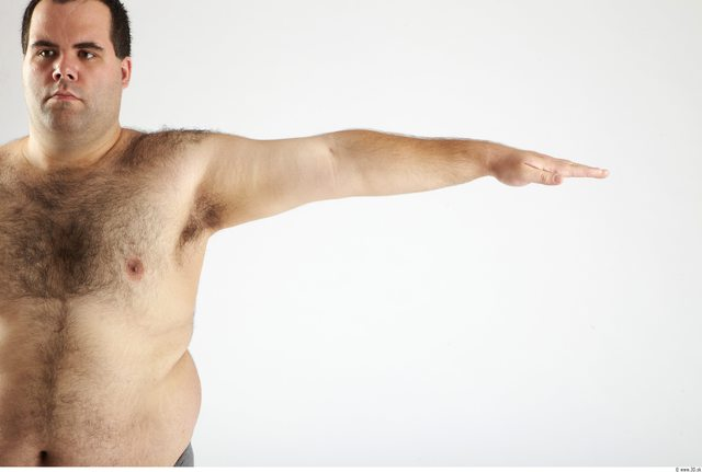 Arm Man Animation references White Nude Overweight
