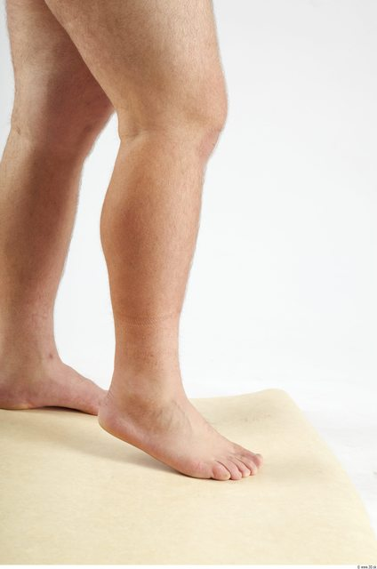 Calf Man White Hairy Nude Overweight