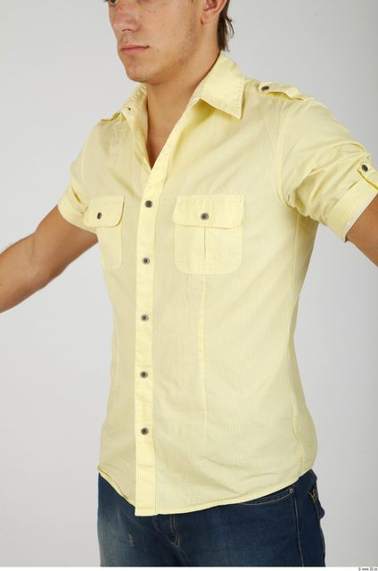 Upper Body Whole Body Man Casual Shirt Athletic Studio photo references