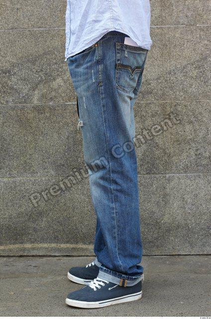 Leg Man White Casual Jeans Slim