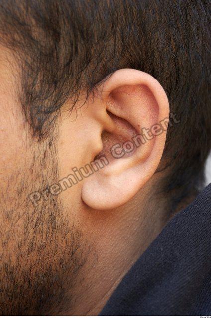 Ear Head Man Athletic Chubby Street photo references