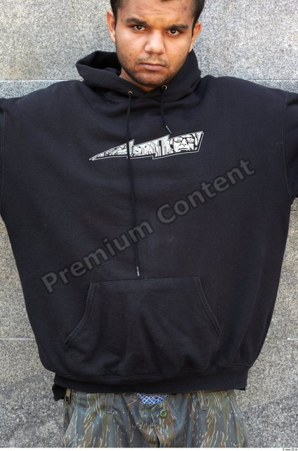 Upper Body Head Man Casual Sweatshirt Athletic Chubby Street photo references