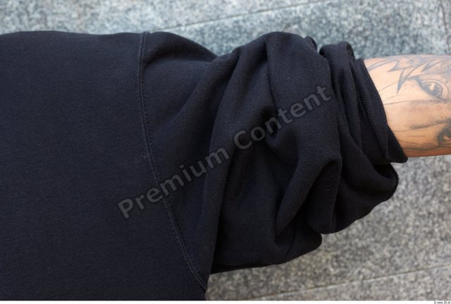 Arm Head Man Casual Sweatshirt Athletic Chubby Street photo references