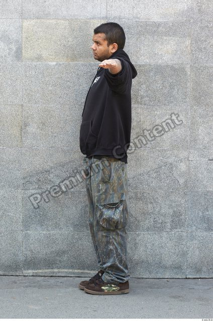 Whole Body Head Man T poses Casual Athletic Chubby Street photo references