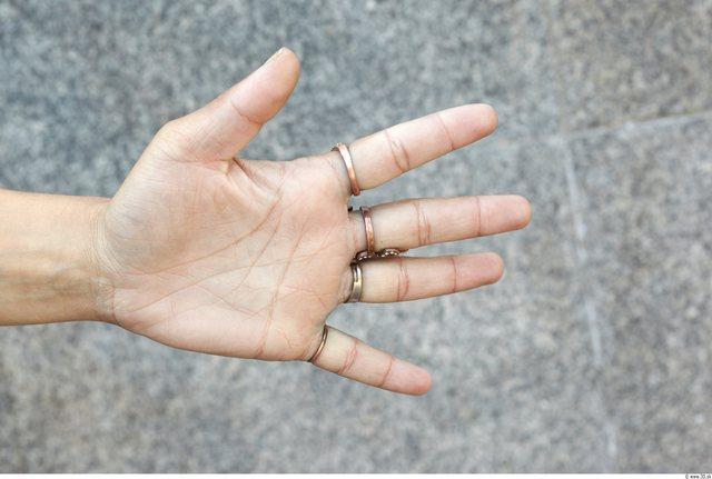 Hand Woman White Jewel Slim