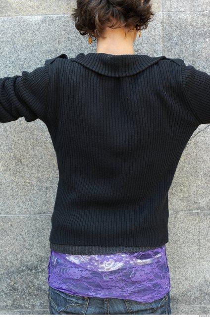 Upper Body Woman White Casual Sweatshirt Slim