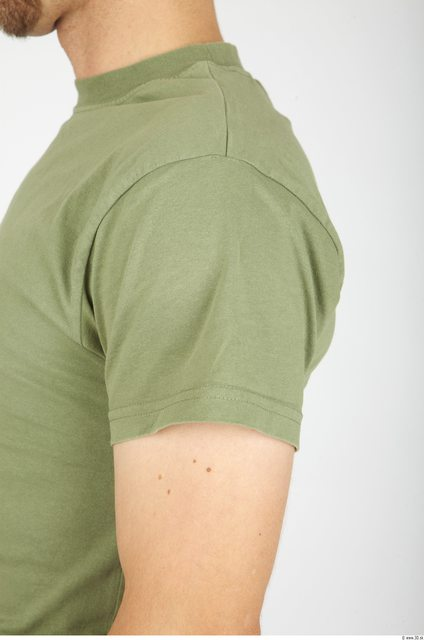 Arm Whole Body Man Army Shirt T shirt Athletic Studio photo references