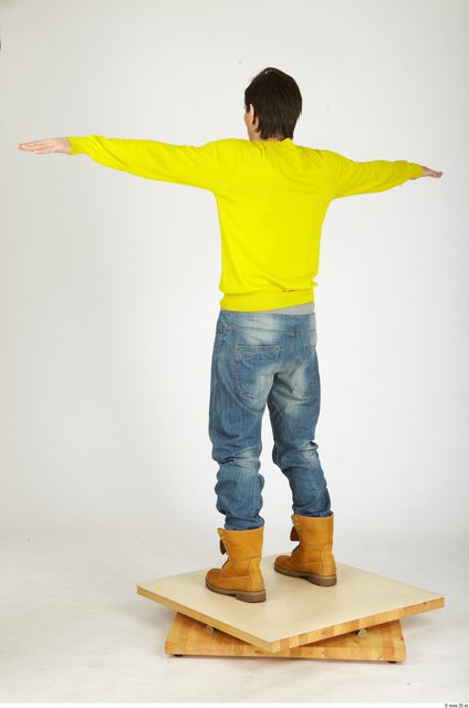 Whole Body Man T poses Casual Athletic Studio photo references