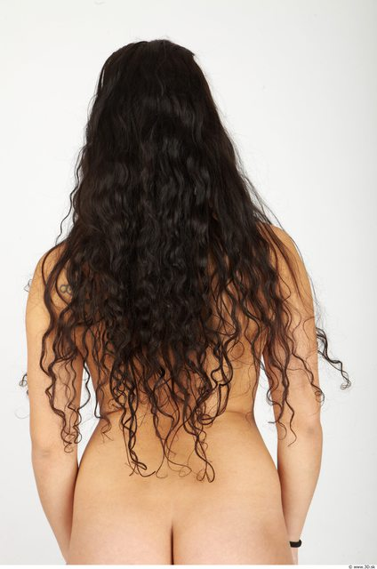 Whole Body Hair Woman Casual Average Studio photo references