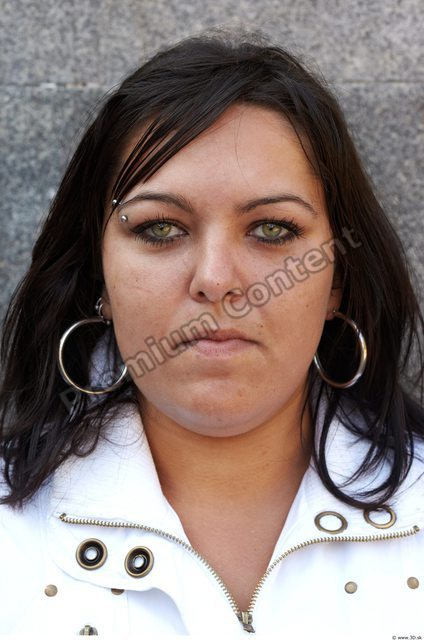 Head Man Woman Piercing Casual Jewel Slim Overweight Street photo references