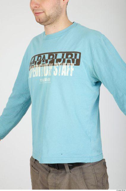 Upper Body Whole Body Man Casual Shirt T shirt Average Studio photo references