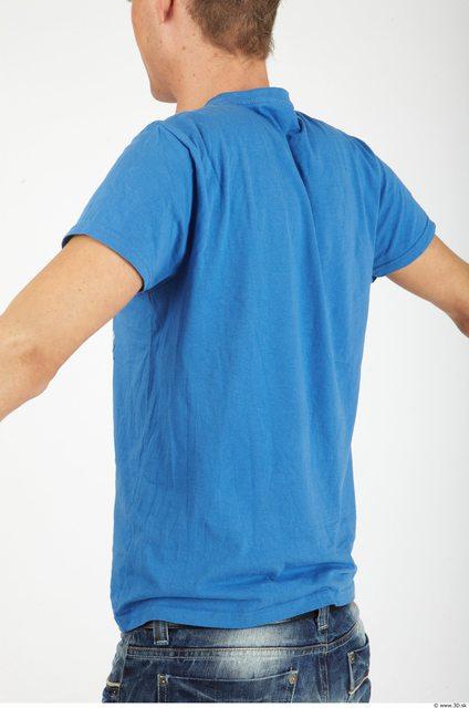 Upper Body Whole Body Man Casual Shirt T shirt Slim Studio photo references