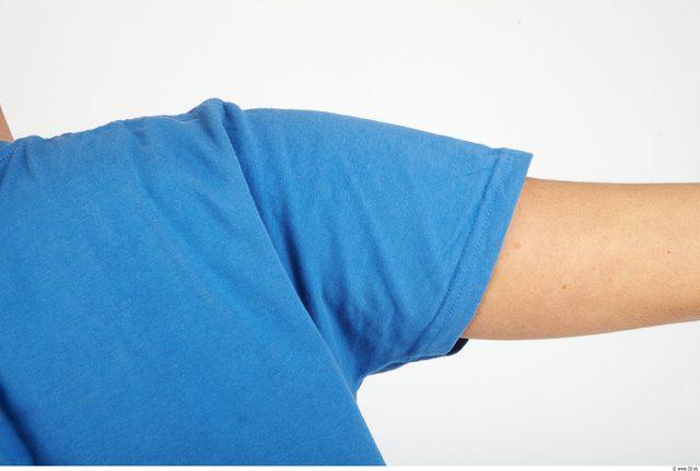 Arm Whole Body Man Casual Shirt T shirt Slim Studio photo references