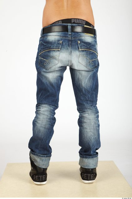 Leg Whole Body Man Casual Jeans Slim Studio photo references