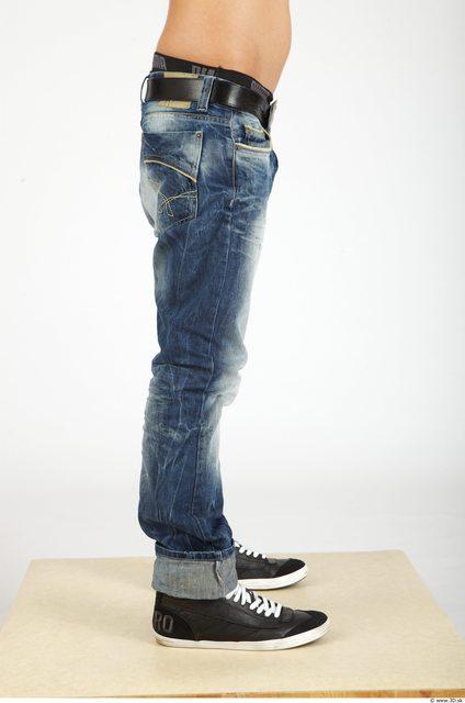 Leg Whole Body Man Casual Jeans Slim Studio photo references