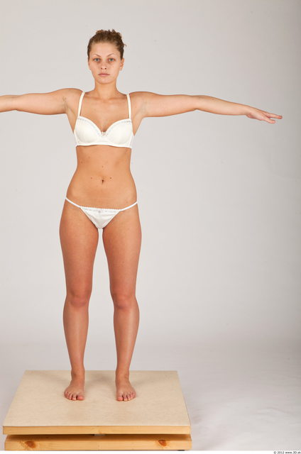 Whole Body Woman T poses Casual Underwear Athletic Studio photo references