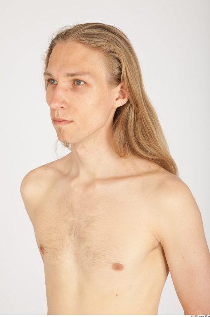 Whole Body Hair Man Casual Slim Studio photo references