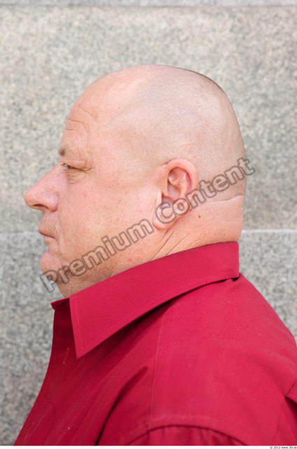 Head Man Casual Slim Overweight Bald Street photo references