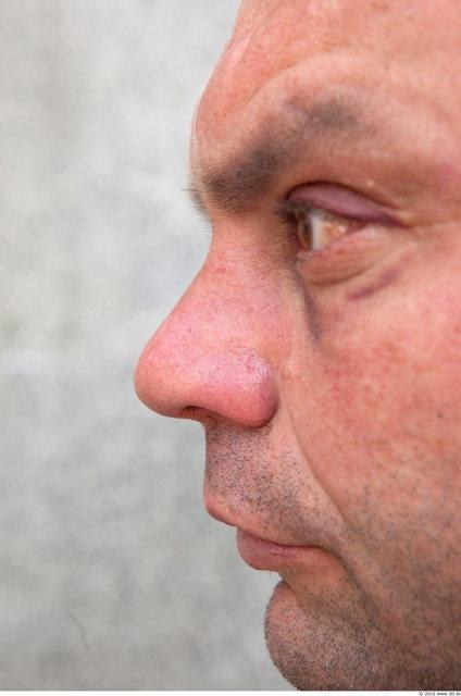 Nose Head Man Casual Slim Average Street photo references