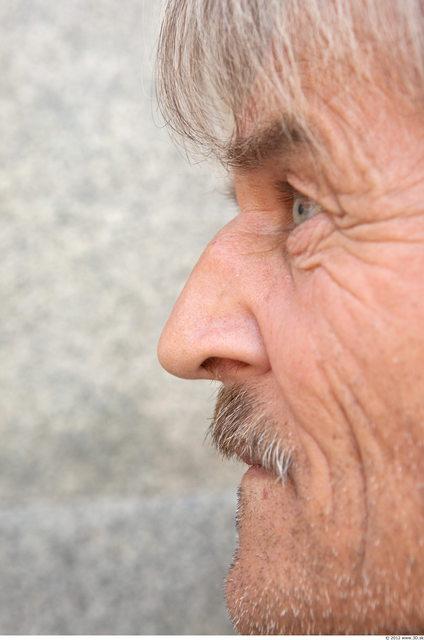 Nose Man White Slim Bearded