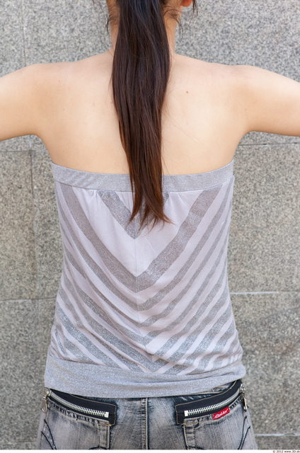 Upper Body Woman White Casual Slim Top