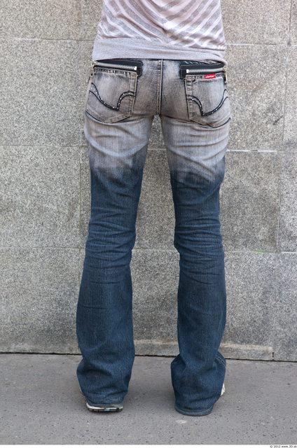 Leg Woman White Casual Jeans Slim