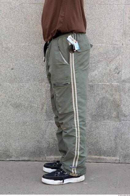 Leg Man White Sports Trousers Average