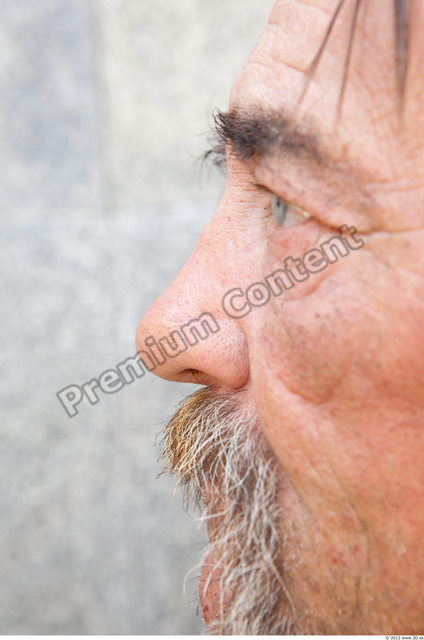 Nose Man White Chubby Bearded
