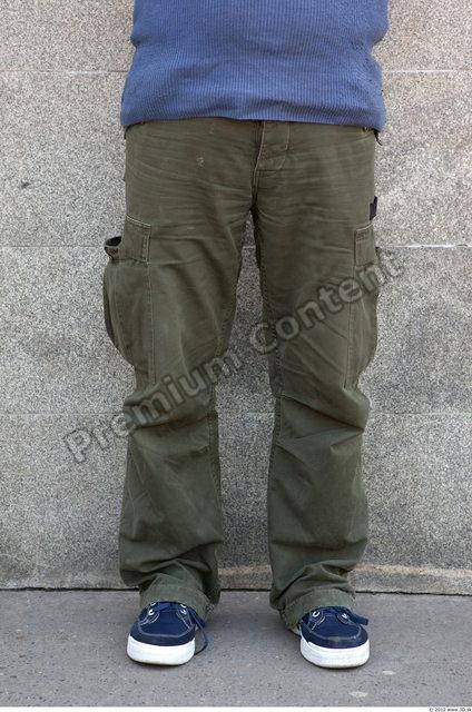 Leg Man White Casual Trousers Chubby