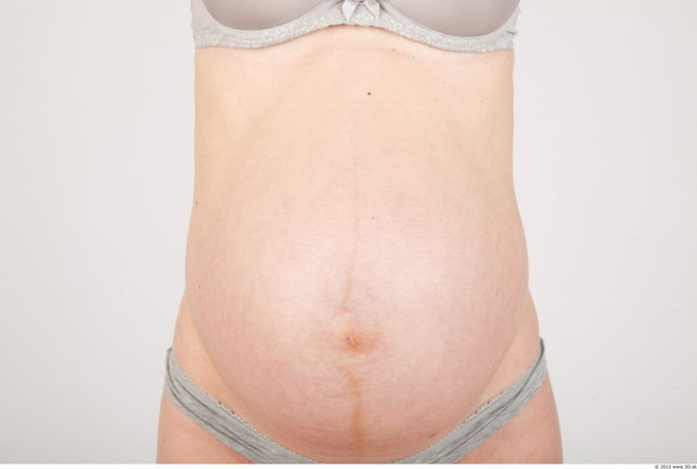 Whole Body Woman Underwear Pregnant Studio photo references