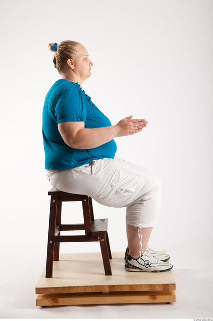 Whole Body Woman Artistic poses White Casual Overweight